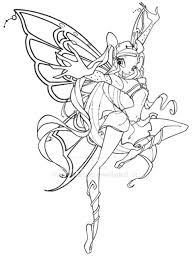winx club stella enchantix coloring pages winx club