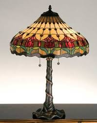 Stained Glass Floor Lamp Colonial Tulip Torchiere Tiffany Stained Glass Floor Lamp