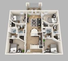 four bedroom floor plans lux13 apartments