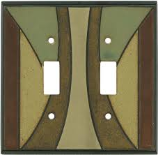 craftsman style light switches craftsman ceramic light switch plates outlet covers wallplates a
