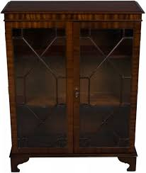 Bookcase With Glass Doors Antique Mahogany Bookcase Glass Doors