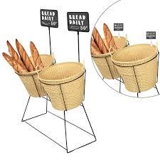 bakery basket wicker basket display stands baguette display ideas dgs retail