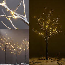 lighted birch trees black christmas pre lighted tree ebay