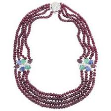 bead diamond necklace images Colombian emerald beads and diamond necklace for sale at 1stdibs jpg