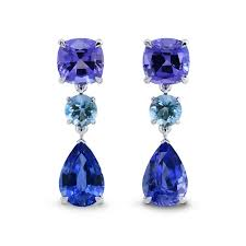 aquamarine earrings tanzanite aquamarine earrings sku 27853r 5 94ct tw