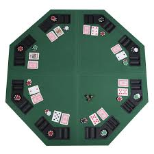 folding poker tables for sale us 48 green octagon 8 player four fold folding poker table top