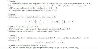 problem 1 for laminar flow between parallel plates chegg com