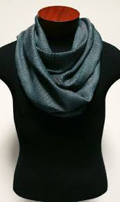 handwoven wool and tencel with collapse weave infinity scarf