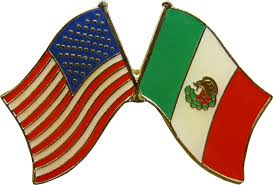 amazon com crossed united states of america u0026 mexico flags enamel