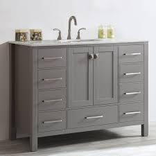 Single Bathroom Vanity With Sink Beachcrest Home Newtown 48 Single Bathroom Vanity Reviews Wayfair