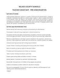 Sample Of Resume Of Teacher by Kindergarten Teacher Assistant Cover Letter
