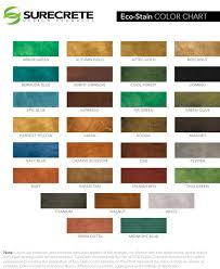 Stain Color Chart Concrete Coating Color Chart Color Charts Fort Worth Tx Lone Star Power Wash U0026 Concrete Floors