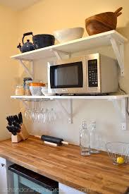wood shelves ikea ikea microwave cabinet ideas creative cabinets decoration