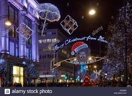 Christmas Decorations Oxford Street - marmite advertising on christmas decorations in oxford street