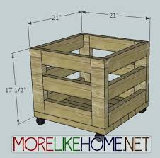 ana white build a 2x4 storage bin feature from more like home