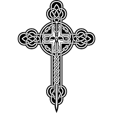 pics for black and white celtic cross tattoos