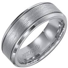 artcarved wedding bands artcarved mens spun wedding band in tungsten 7 5mm