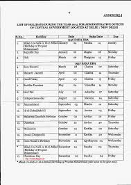 list of holidays 2015 for central government offices central