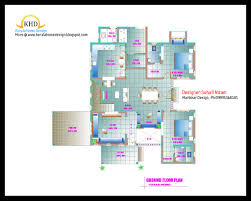 home plan and elevation 2678 sq ft kerala home design and floor