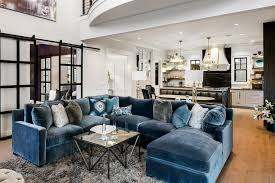 Design Contemporary Chaise Lounge Ideas Tremendeous Blue Velvet Sectional With Chaise Lounge Contemporary