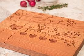 personalised cutting boards personalized family tree wooden cutting board smiling tree