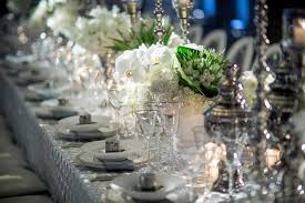 amazing wedding table decoration with flowers and candles