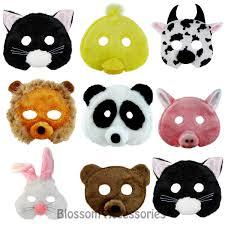 as189 animal plush mask child costume set book week halloween