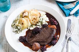 venison steaks with sloe gin sauce recipe dinner ideas for two