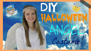 easy cute diy halloween angel costume youtube