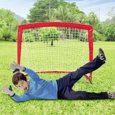net playz 4 u0027x3 u0027 soccer goal easy fold up training goal pair or