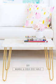 Marble Accent Table Diy Marble And Gold Accent Table Sugar U0026 Cloth