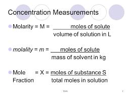 mullis1 2 concentration measurements molarity u003d m u003d moles of