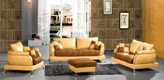 living room wall mirror design with beige sofa plus brown top