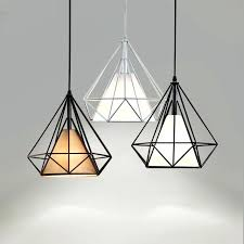 Black Pendant Light Scandinavian Pendant Lights Modern Metal Diamond Pendant Light