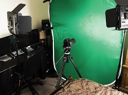 camera and lighting for youtube videos a home studio in a small room will enable a setup for shooting