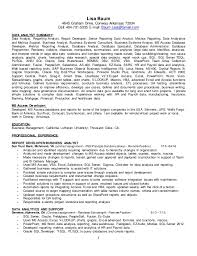 Resume For Analytics Job by Resume Data Analyst Lisa Baum