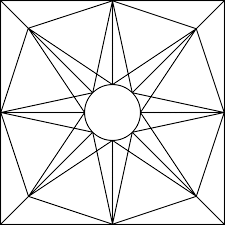 Geometric Block Pattern 71 Clipart Etc Quilt Block Coloring Pages