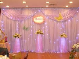 wedding backdrop on stage curtain backdrop decorations decorate the house with beautiful