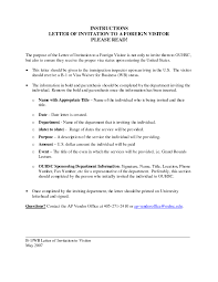 Wedding Invitation Letter For Us Visitor Visa sle of invitation letter for visa application cover cover letter