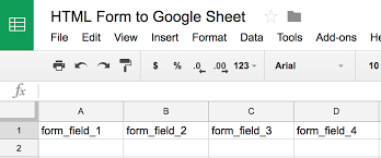 Form To Spreadsheet How To Submit An Html Form To Sheets Without Forms