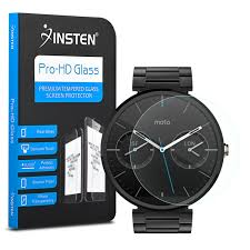 Moto Shade Replacement Canopy by Insten Tempered Glass Screen Protector For Motorola Moto 360
