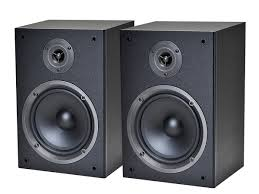 monoprice 108250 2 way bookshelf speakers pair home