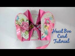 tutorial scrapbook card diy heart box card tutorial for scrapbook how to craftlas youtube