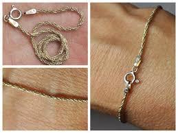 silver rope chain bracelet images Vintage italy 925 silver twisted rope chain bracelet gold vermeil jpg