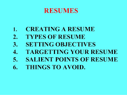 3 Types Of Resumes Cv Resumes