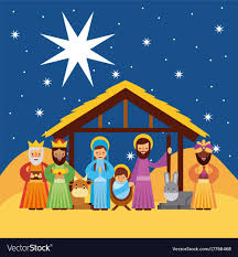 merry greetings with jesus born in vector image