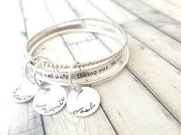 personalized bangles stacking bangles personalized bangle personalize bracelet as