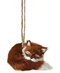 fox gift box ornament by