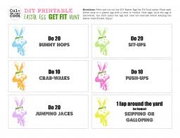 easter games easter egg get fit hunt printable from cul de sac cool