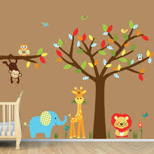 perfect kids bedroom stickers monkey hang tree wall decoration kids bedroom stickers